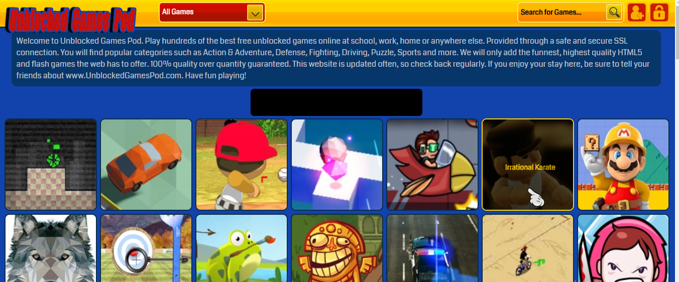 unblocked games pod